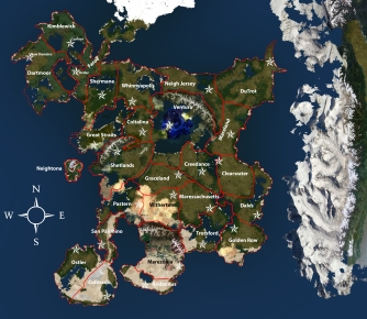 Roan Map State Boundaries + Names